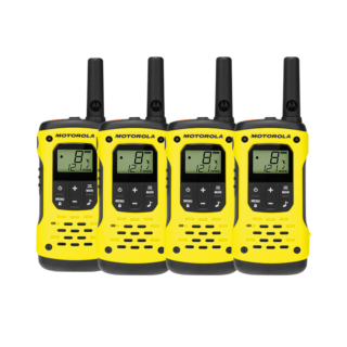 Motorola T92 H2O Waterproof Two-Way Radio Quad Pack