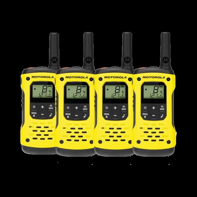 Motorola T92 H2O Waterproof Two-Way Radio Quad Pack