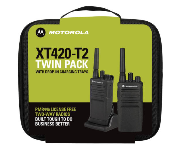 XT420 T2 License Free Two-Way Radio Twin Pack