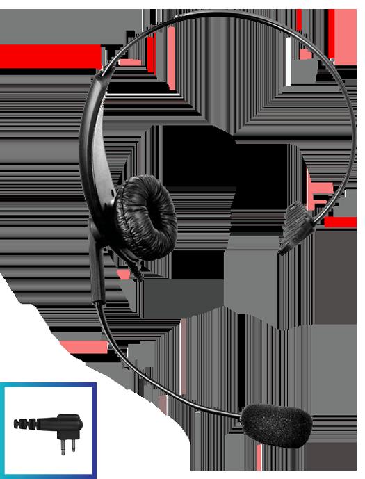 LHM01 DTS Value Range D-Shape Earpiece with Lapel Mic