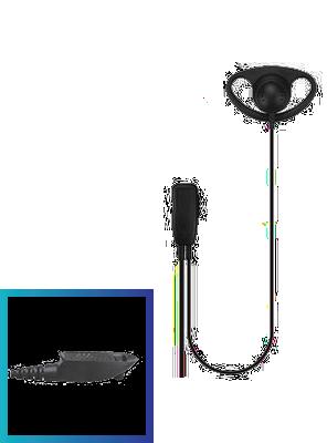 EDM22 DTS Value Range D-Shape Earpiece with Lapel Mic