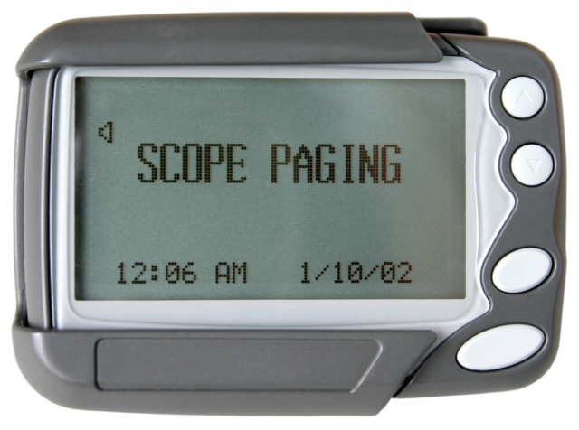 Scope GEO86ZM 4/8 line pager with rechargeable AA NiMH battery