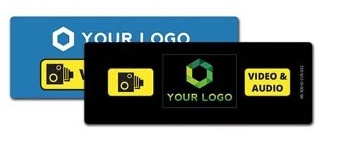 VB-400-ID-CUS-ART – VideoBadge VB400 custom-designed front panel ID card