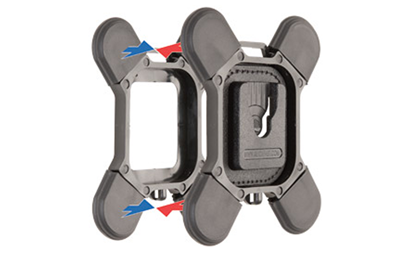 o VB-400-VF-MAG – Magnetic mount = £25.00 plus VAT (see pic below)  Magnetic mounting kit for garment mounting available for metric or imperial magnets.  Magnets are not including and should be purchased separately. See F205N-ZN-2 zinc plated neodymium magnets.