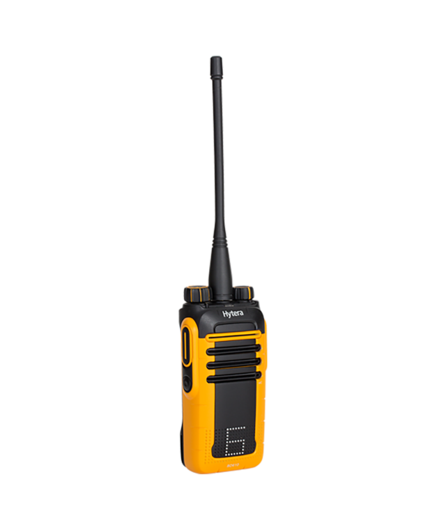 Front angle of the Hytera BD615 Business Digital Two-Way Radio