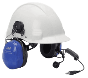 PMLN6333A PELTOR ATEX Twin Cup Headset with Helmet Attachment & Boom Mic